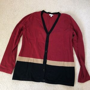 Talbots Long Sleeved Button Up Sweater